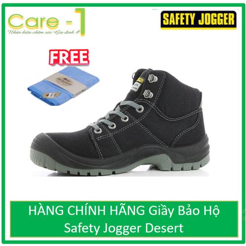 HÀNG CHÍNH HÃNG Giầy Bảo Hộ Safety Jogger Desert 117 - Xám - Tặng Khăn Mặt Cotton Cao Cấp 30k