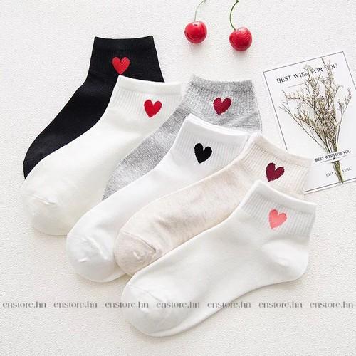 3 đôi tất tim cổ ngắn Hàn Quốc