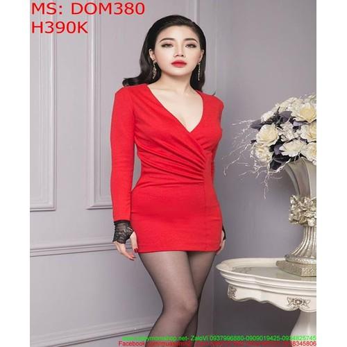 Đầm body đỏ dài tay phối ren lưới đen sang trọng DOM380 - 8507121 , 17872151 , 15_17872151 , 390000 , Dam-body-do-dai-tay-phoi-ren-luoi-den-sang-trong-DOM380-15_17872151 , sendo.vn , Đầm body đỏ dài tay phối ren lưới đen sang trọng DOM380