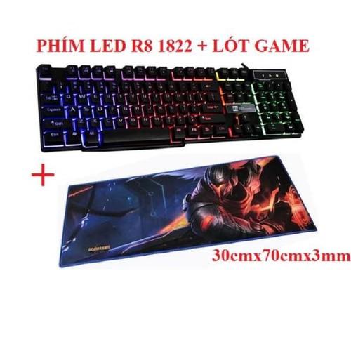 Bàn phím chơi game led 7 màu R8 1822 + Lót chuột game