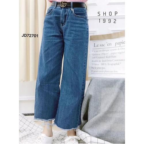 quần jeans dài nữ ống to