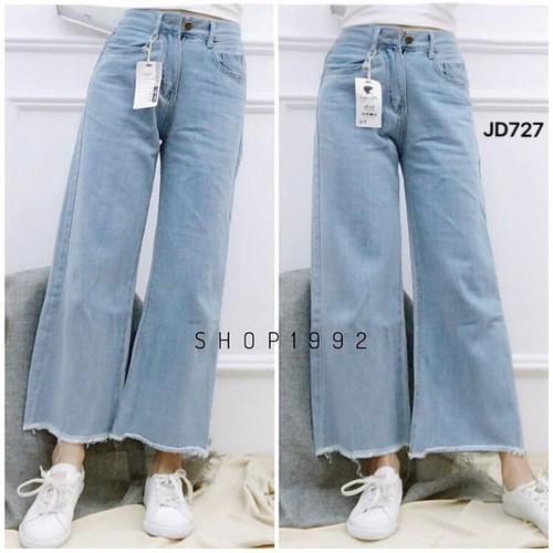 quần jeans dài nữ rộng