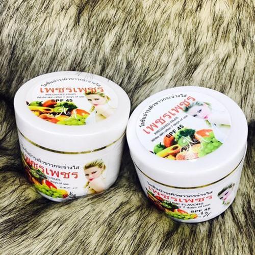 Kem dưỡng trắng da trái cây 7 ngày SPF45 250gr - ThaiLan chiết xuất từ trái cây thiên nhiên, cho bạn làn da trắng hồng