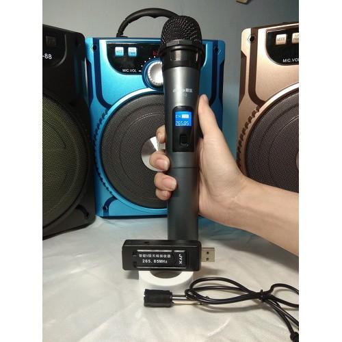 Míc không dây dành cho Loa Bluetooth Karaoke, Loa Kéo Mini, dàn karaoke ampli