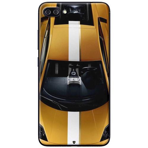 Ốp lưng nhựa dẻo Asus Zenfone 4 Max Pro ZC554KL Xe đua vàng