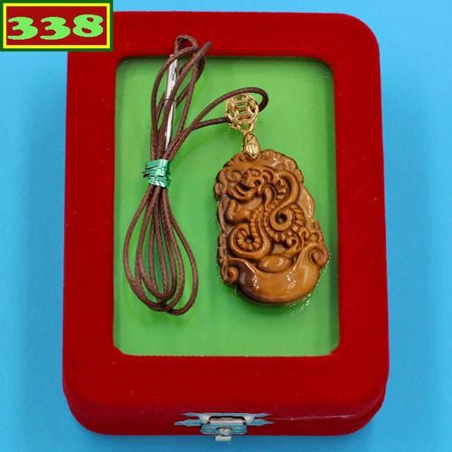 Vòng cổ tuổi Tỵ đá mắt hổ DIVMHCG9 kèm hộp nhung - Dây chuyền khắc linh vật 12 con Giáp