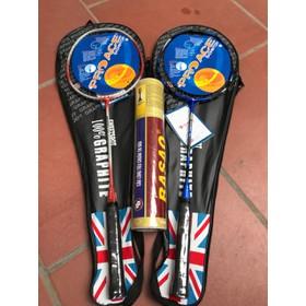 Combo 2 cây Vợt đơn pro, Vợt cầu lông cước cao cấp đã có cước sẵn tặng hộp cầu 3 sao 10 quả - 2 vợt pro tặng cầu