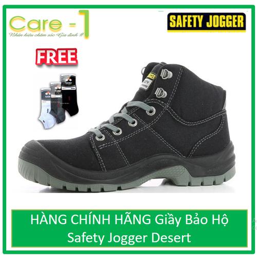 HÀNG CHÍNH HÃNG Giầy Bảo Hộ Safety Jogger Desert 117 - Xám - Tặng Tất Nano Khử Mùi Kháng Khuẩn 30k