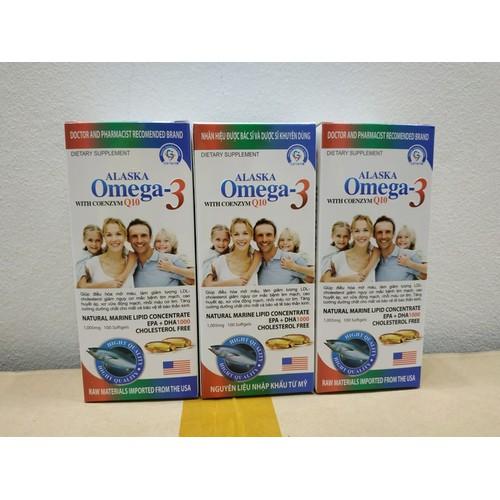 [ CHÍNH HÃNG ] COMBO 2 LỌ Dầu cá alaska omega 3 with coenzym Q10 viên uống sáng mắt đẹp da giàu omega 3  nguyên liệu nhập khẩu Mỹ