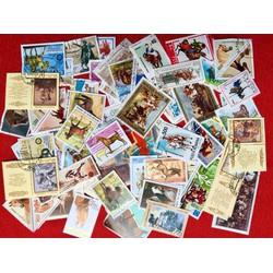 bộ sưu tập tem 100 con khác nhau về các loài ngựa