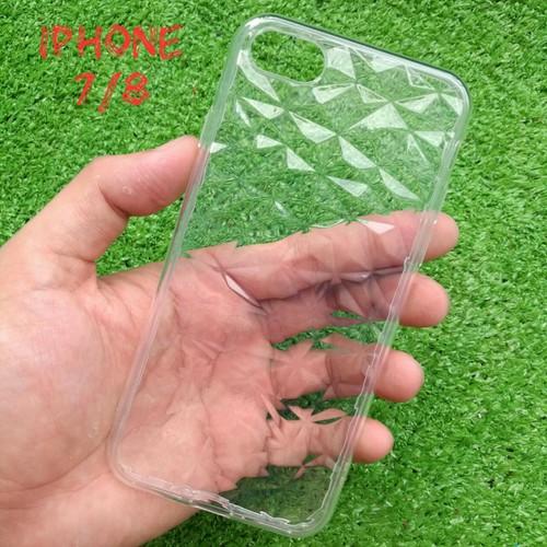 Ốp Lưng iPhone 7 8 Dẻo Trong Suốt Vân 3D