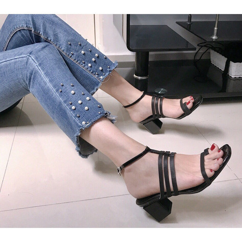 Giày sandal cao gót xỏ ngón phối dây - 8575455 , 17897200 , 15_17897200 , 270000 , Giay-sandal-cao-got-xo-ngon-phoi-day-15_17897200 , sendo.vn , Giày sandal cao gót xỏ ngón phối dây