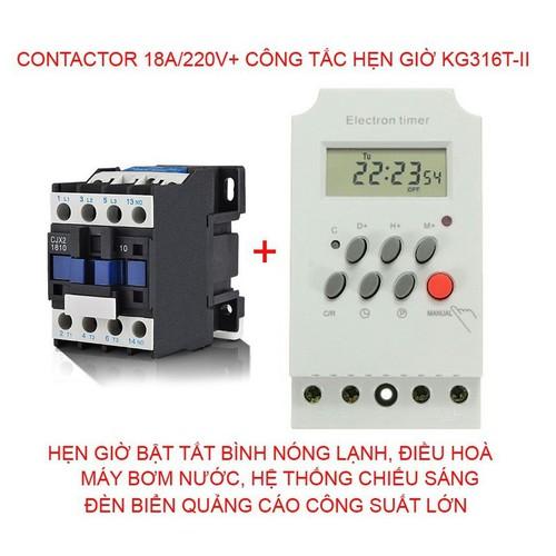Comboo công tắc hẹn giờ và khởi động từ 18A 220V - 8587649 , 17902030 , 15_17902030 , 230000 , Comboo-cong-tac-hen-gio-va-khoi-dong-tu-18A-220V-15_17902030 , sendo.vn , Comboo công tắc hẹn giờ và khởi động từ 18A 220V