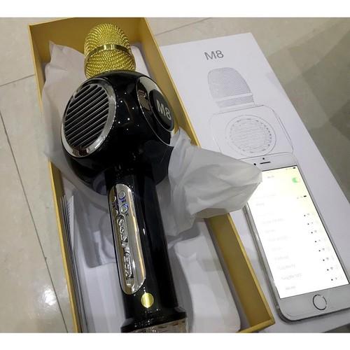 Mic kèm loa hát Karaoke M8 chính hãng Có đèn led 4 màu nhấp nháy - mic hát karaoke kèm loa bluetooth - 8578722 , 17898402 , 15_17898402 , 866000 , Mic-kem-loa-hat-Karaoke-M8-chinh-hang-Co-den-led-4-mau-nhap-nhay-mic-hat-karaoke-kem-loa-bluetooth-15_17898402 , sendo.vn , Mic kèm loa hát Karaoke M8 chính hãng Có đèn led 4 màu nhấp nháy - mic hát kar