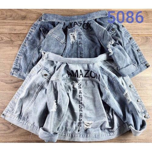 áo khoác jean nữ thêu chữ lưng - 8562504 , 17891917 , 15_17891917 , 250000 , ao-khoac-jean-nu-theu-chu-lung-15_17891917 , sendo.vn , áo khoác jean nữ thêu chữ lưng