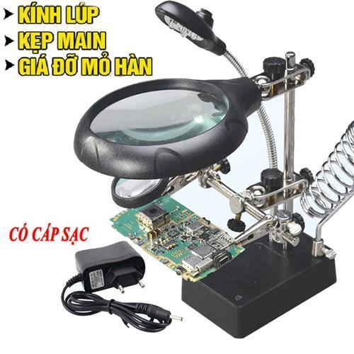 Kính lúp kẹp soi hàn mạch điện tử có đèn led và cáp sạc Loại Tốt - 4958865 , 17896025 , 15_17896025 , 220000 , Kinh-lup-kep-soi-han-mach-dien-tu-co-den-led-va-cap-sac-Loai-Tot-15_17896025 , sendo.vn , Kính lúp kẹp soi hàn mạch điện tử có đèn led và cáp sạc Loại Tốt