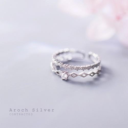 Nhẫn bạc 925  Nhẫn nữ Freesize  Nhẫn hình viền đá sang trọng  Nhẫn đẹp