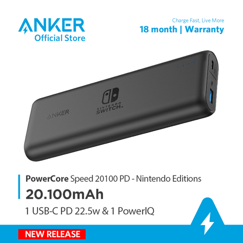 Pin dự phòng ANKER PowerCore Speed 20100mAh PD Nintendo Editions - A1275S
