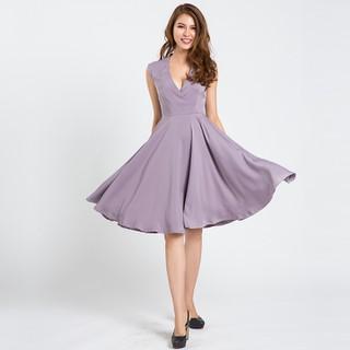 Đầm Dự Tiệc Xòe Tuyệt Đẹp Đầm Xòe Hity DRE079 Fit nFlare Tím Violet - DRE079-TÍM VIOLET thumbnail