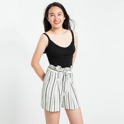 Quần Shorts Nữ Xếp Ly Quần Shorts Lưng Xếp Ly Hity PAN033 Sọc Trắng Kim Cương