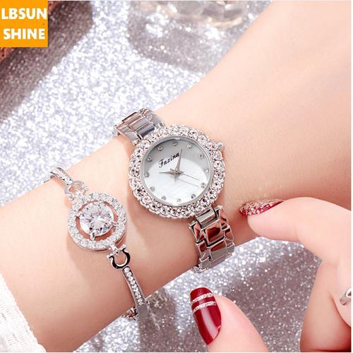 [SIÊU SALE + TẶNG VÒNG ĐÁ KIM CƯƠNG] Đồng hồ chính hãng Jasina Hàn Quốc mặt đá viền kim cương phủ Saphiar chống xước chống nước tuyệt đối