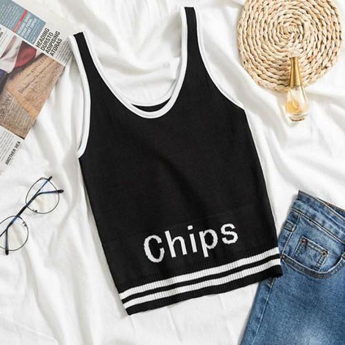 áo len sát nách chips Mã: AH340 - ĐEN