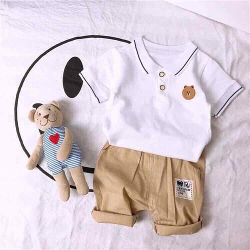 Set áo thun quần short bé trai