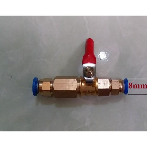 Van khóa đồng dùng cho ống 8mm
