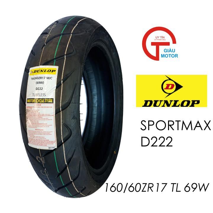 Lốp Dunlop 160.60-ZR17 D222 TL 69W Vỏ xe máy Dunlop size 160.60-ZR17 D222 TL 69W_ Dunlop Việt Nam, giá rẻ, uy tín 1