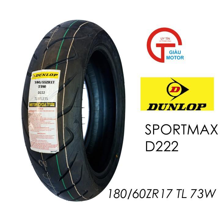 Lốp Dunlop 180.55-ZR17 D222 TL 73W Vỏ xe máy Dunlop size 180.55-ZR17 D222 TL 73W_ Dunlop Việt Nam, giá rẻ, uy tín 1