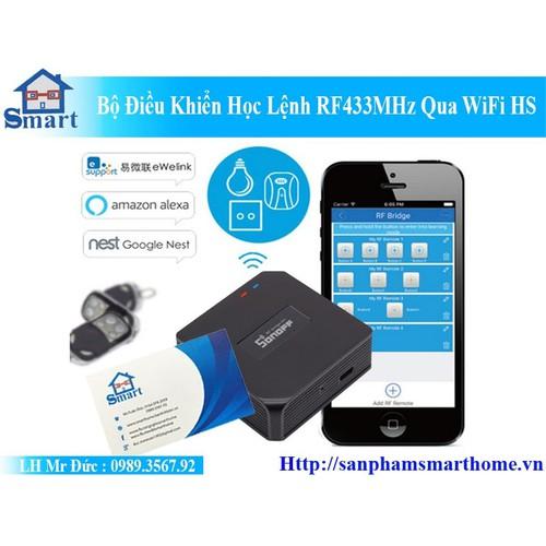 Bộ Điều Khiển Học Lệnh RF433MHz Qua WiFi HS