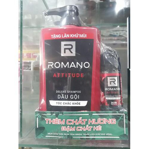 DẦU GỘI ROMANO ATTITUDE 650g tặng lăn khử mùi 40ml