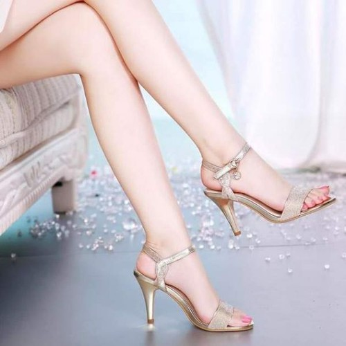 Giày sandal cao gót nữ phối kim tuyến - 8641012 , 17923281 , 15_17923281 , 320000 , Giay-sandal-cao-got-nu-phoi-kim-tuyen-15_17923281 , sendo.vn , Giày sandal cao gót nữ phối kim tuyến