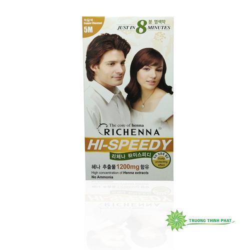 Thuốc nhuộm tóc phủ bạc Richenna màu nâu ánh đồng