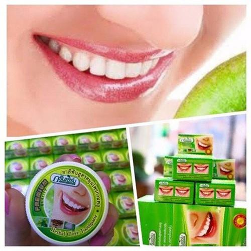 Bột trắng răng green herb thailand 25gr - kem tẩy trắng răng thảo dược và dầu dừa thailand