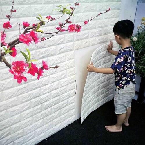 Xốp dán tường giả gạch 3D