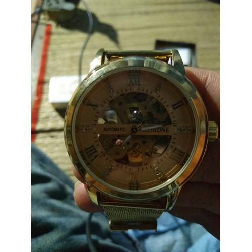 Đồng hồ cơ lộ máy cao cấp giá rẻ - Đồng hồ automatic nam lộ máy chính hãng - Đồng hồ lộ cơ 6 kim tự động ma vàng