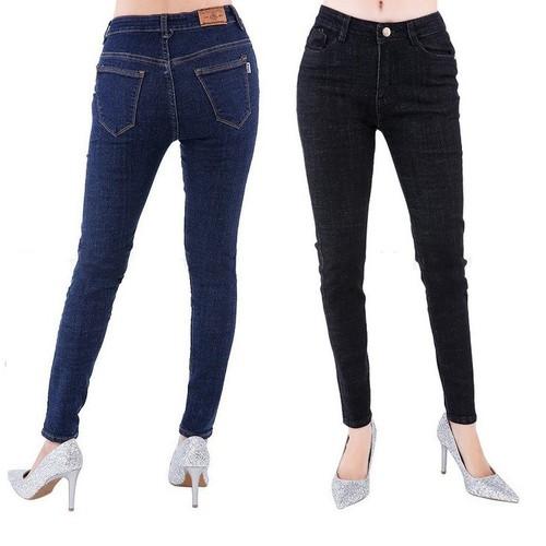 Quần jean nữ lưng cao chất đẹp co giãn tốt