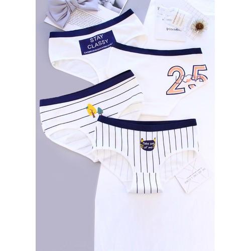 Combo 4 quần lót nữ cotton QL02