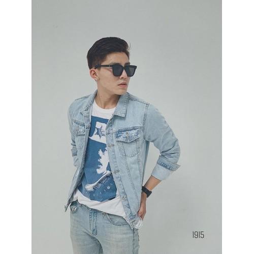 Áo khoác jeans nam phong cách