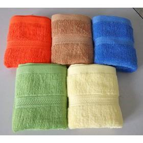 Khăn mặt cotton loại dày 2 mặt - Bộ 5 khăn KT 30x48cm - Bộ 5 khăn cotton dày