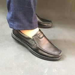 Giày mền thô nam da bò thật bảo hành da 1 năm
