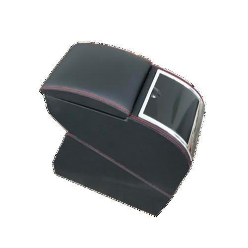 Hộp tỳ tay ô tô, xe hơi cao cấp Hyundai i10 liền khối tích hợp 3 cổng USB - Mầu Đen