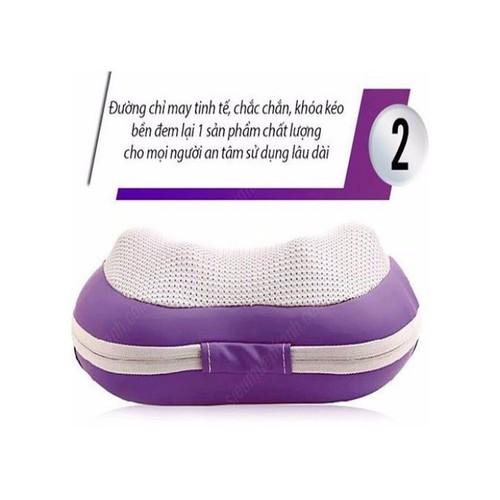 Gối massage hồng ngoại Magic Pillow PL818 - 6 quả cầu
