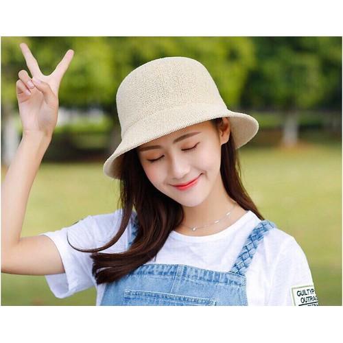 Nón, mũ cói đi biển chữ M thời trang 2019