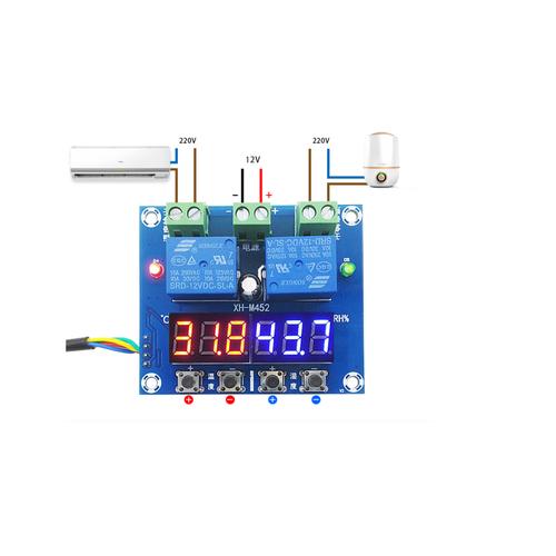 Module điều khiển nhiệt độ, độ ẩm hiển thị XH-M452