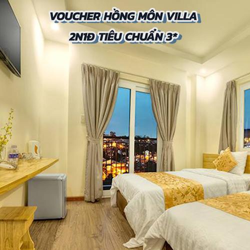 Voucher Hồng Môn Villa 2N1Đ Tiêu Chuẩn 3* Tại Đà Lạt