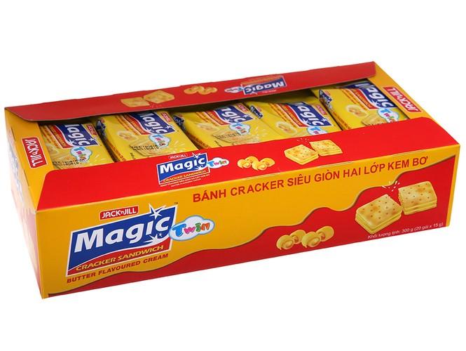 Hộp Bánh Magic Phô mai 20 Cái Bánh Quy 2 Lớp Kem Phô mai - magic phô mai