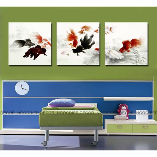 tranh treo tường - tranh cá chép