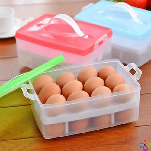 Hộp đựng trứng tiện dụng - hộp đựng trứng gà 2 tầng